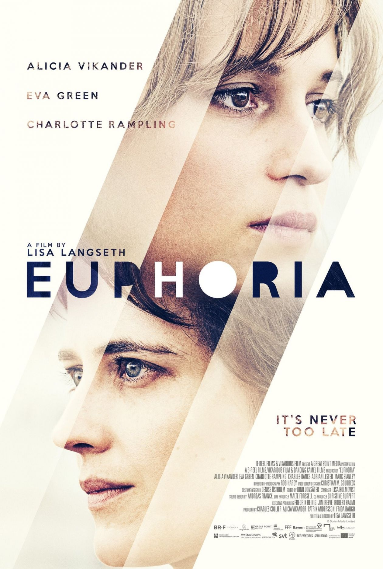 Alicia Vikander / Eva Green | Euphoria / Lisa Langseth 2017 Movie Poster Affiche film
