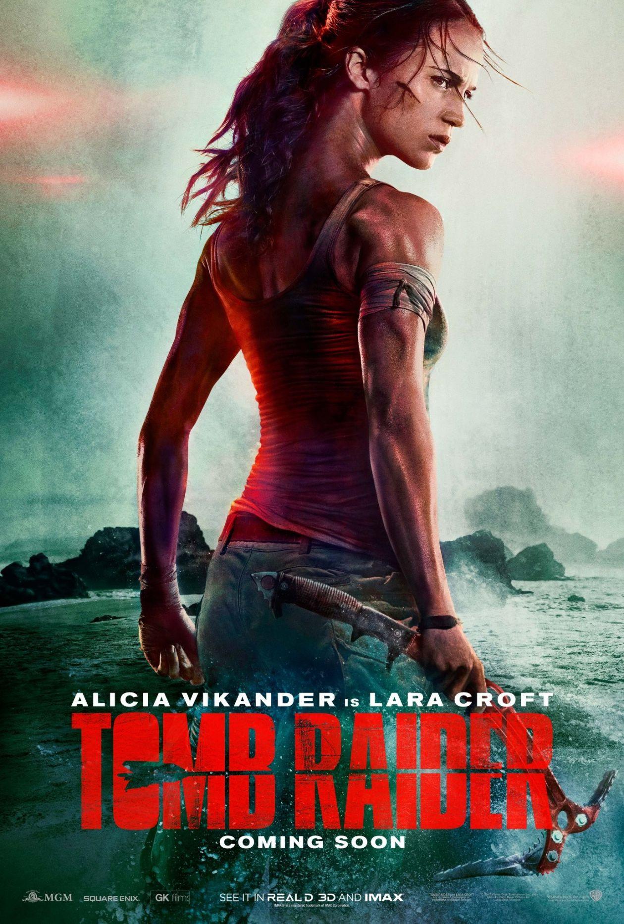Alicia Vikander / Lara Croft / Tomb Raider 2018 Movie Poster Affiche film