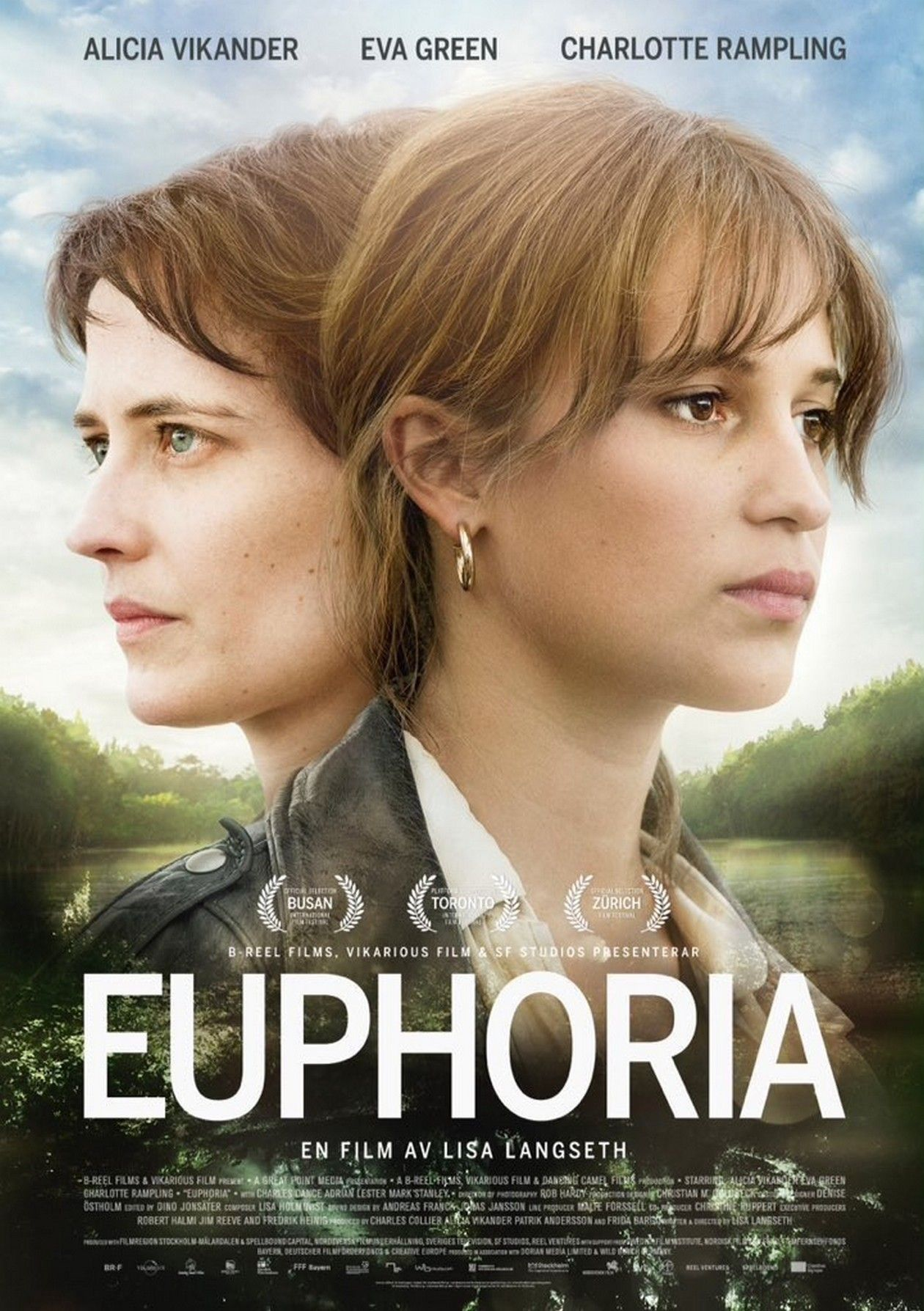 Eva Green / Alicia Vikander actresses | Euphoria / Lisa Langseth 2018 Movie Poster Affiche film