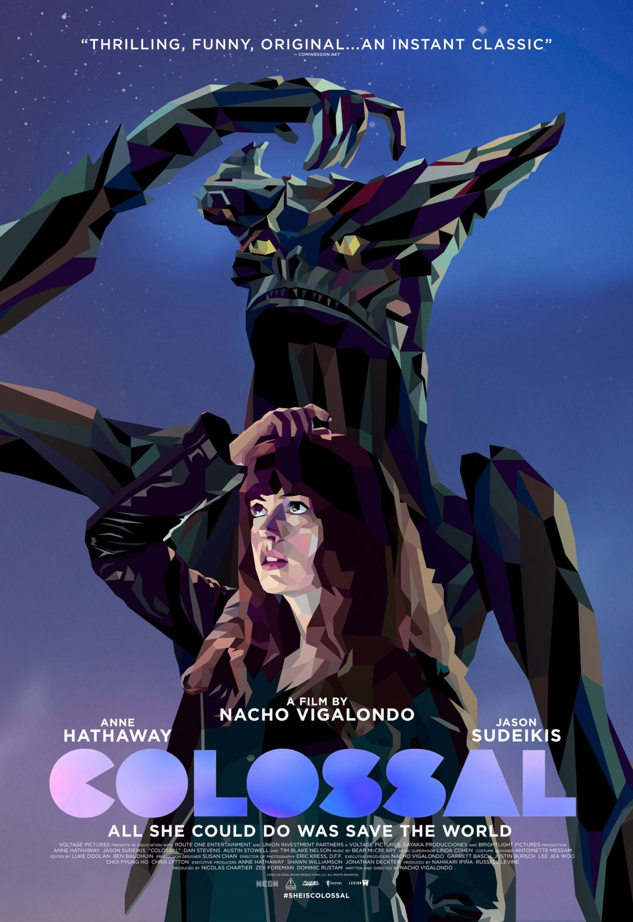 Anne Hathaway actress | Colossal / Nacho Vigalondo 2016 Movie Poster Affiche film