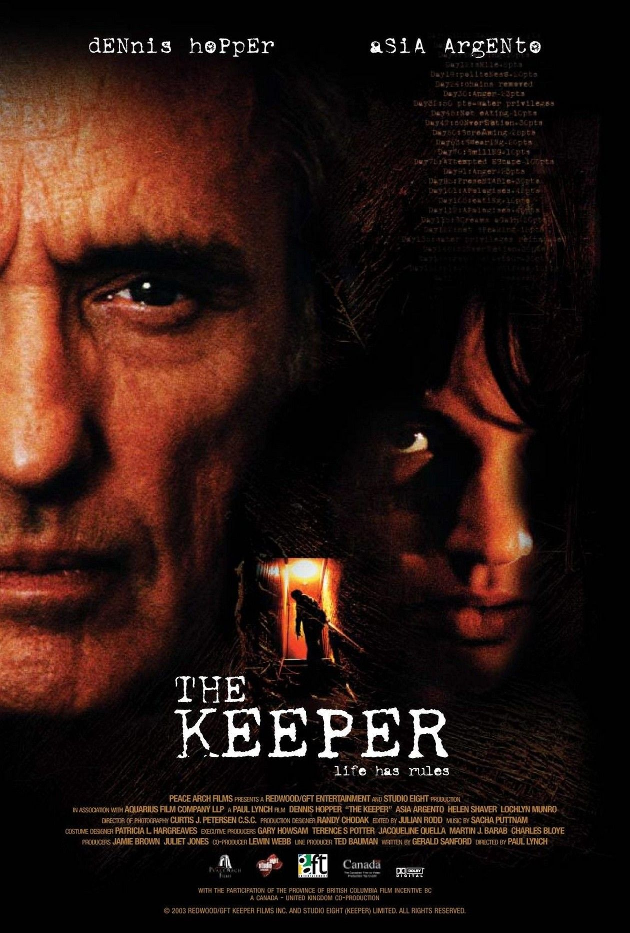 Asia Argento actress | The Keeper / Paul Lynch 2004 Movie Poster Affiche film