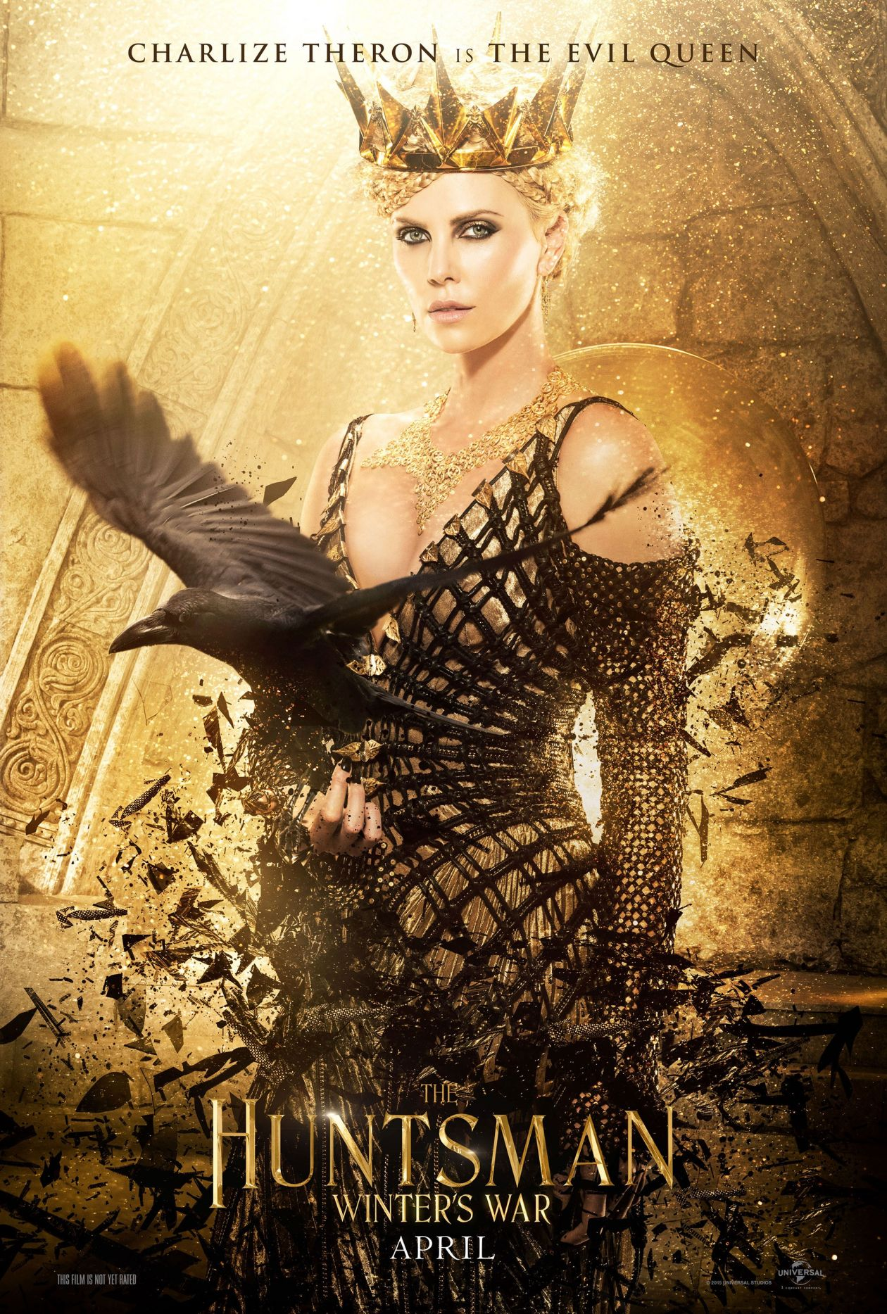 Charlize Theron actress | The Evil Queen | The Huntsman: Winter's War / Cedric Nicolas-Troyan 2016 Movie Poster Affiche film