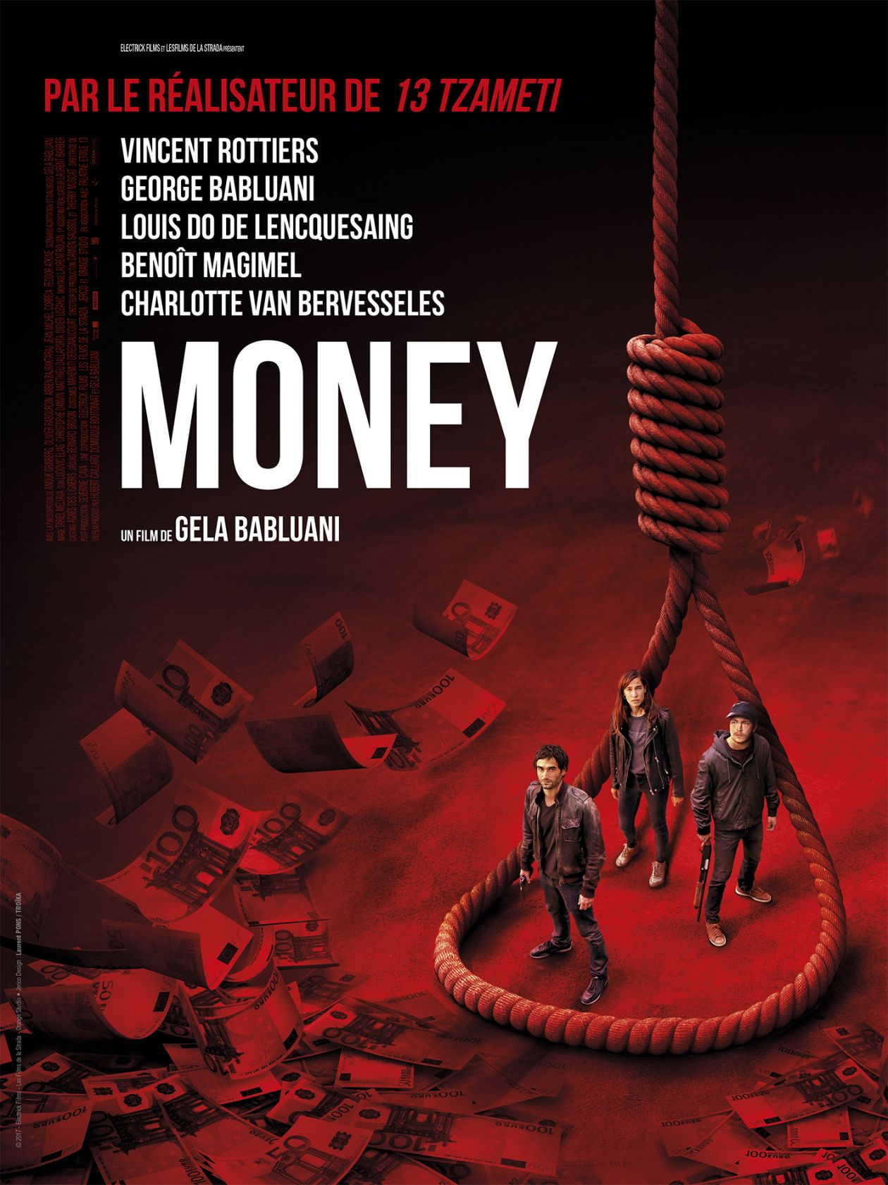 Charlotte Van Bervesseles French actress : Alexandra | Money | GELA BABLUANI | 27 SEPTEMBRE 2017 / Movie Poster / Affiche du film