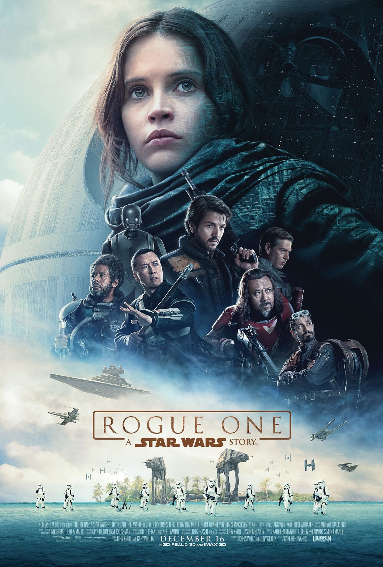 Felicity Jones actress | Rogue One: A Star Wars Story / Movie Poster / Affiche film