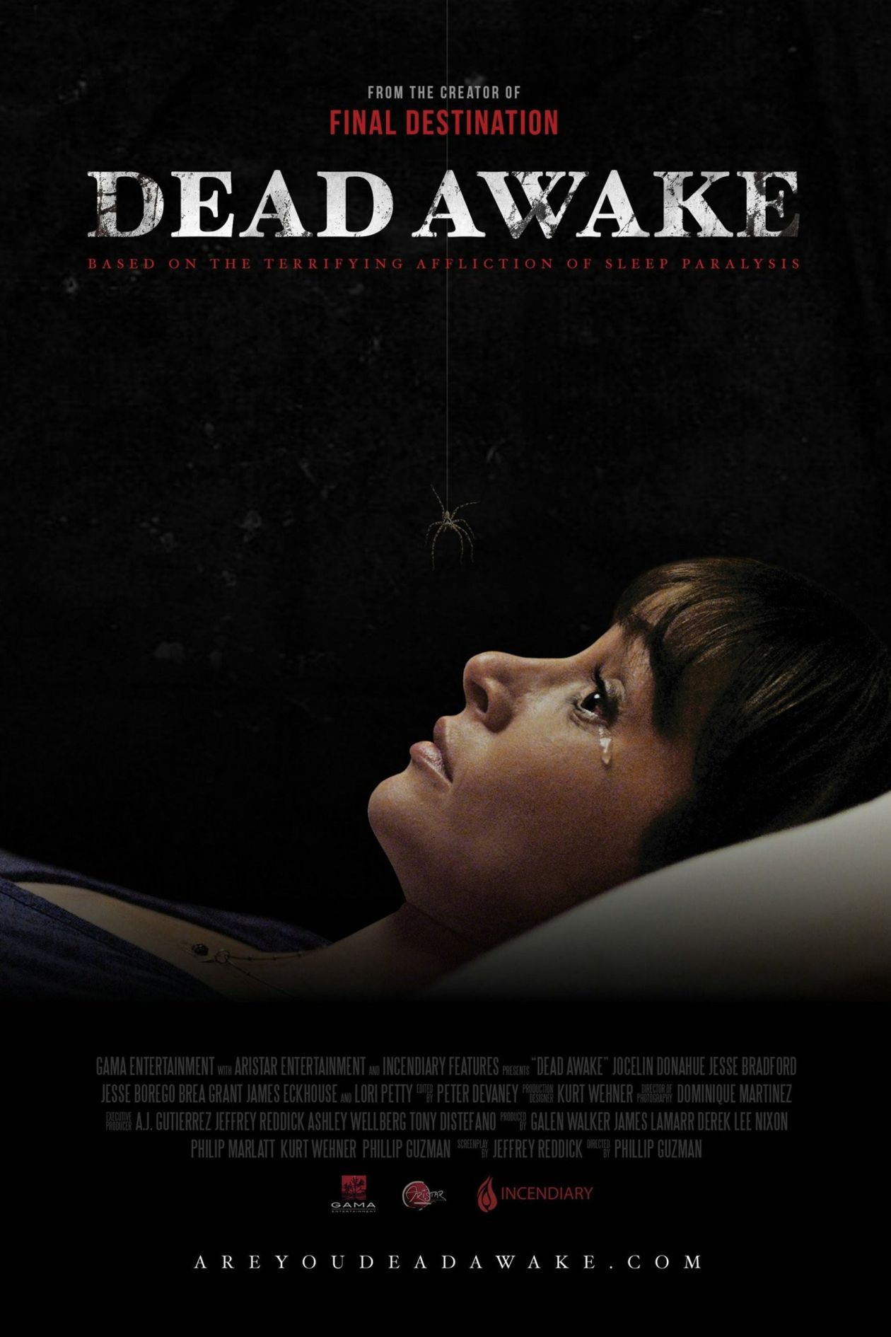 Jocelin Donahue actress / Kate Bowman & Beth her twin / Dead Awake 2016