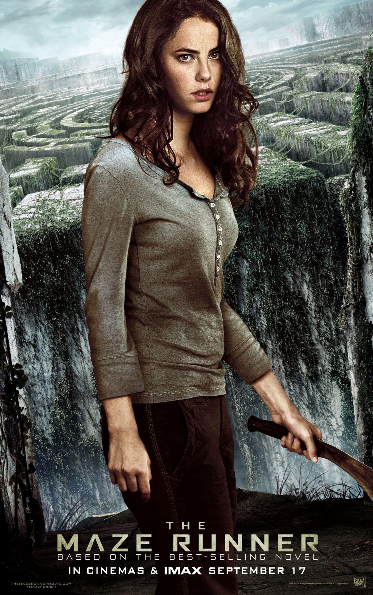 Kaya Scodelario   The Maze Runner Movie Poster