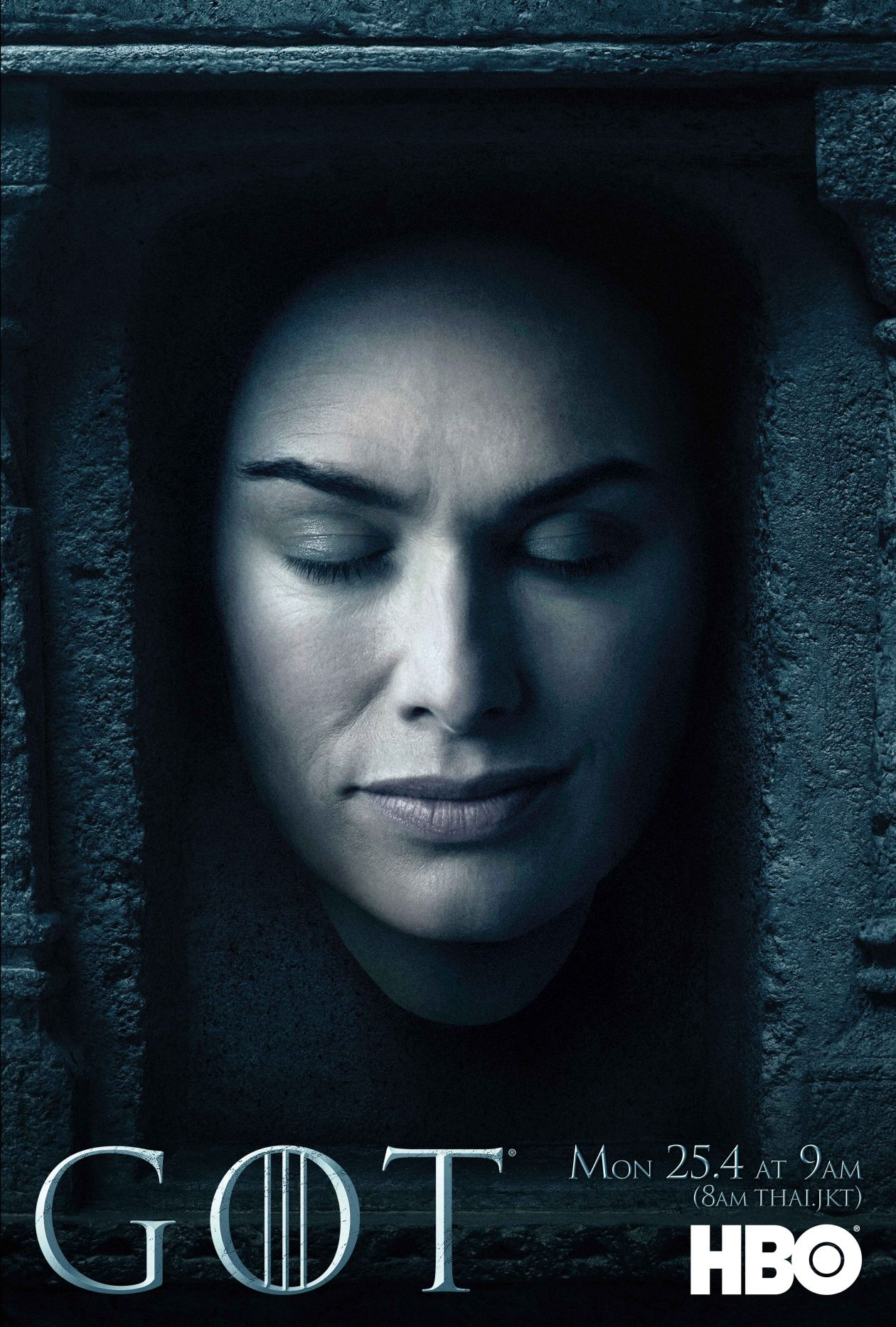 Lena Headey actress / Game of Thrones / Queen of the Seven Kingdoms / Cersei Lannister 2016 MOVIE SERIES SEASON 6 POSTER / AFFICHE SERIE SAISON 6