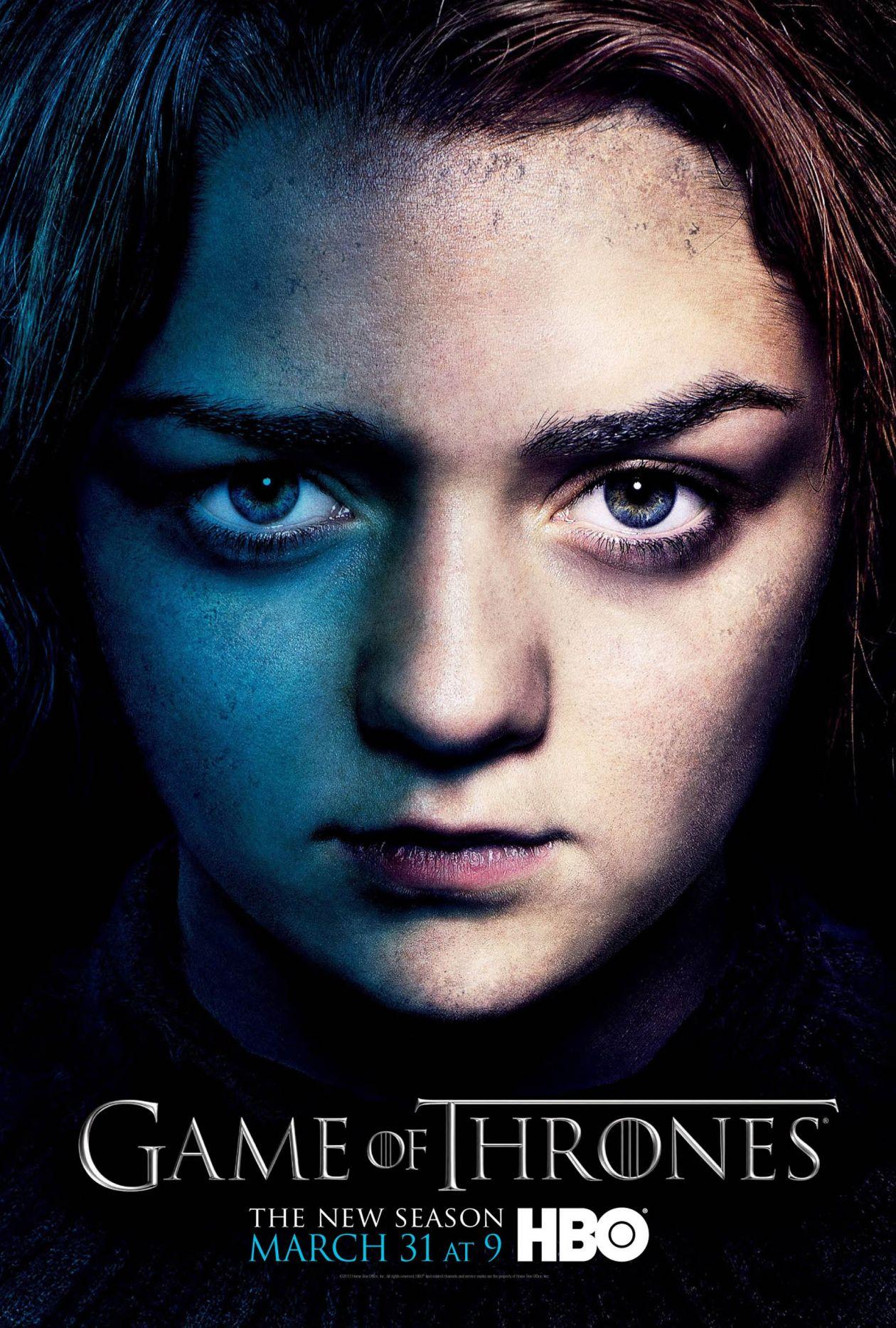 Maisie Williams actress : Arya Stark  Game of Thrones : Series Poster Season 3 2013