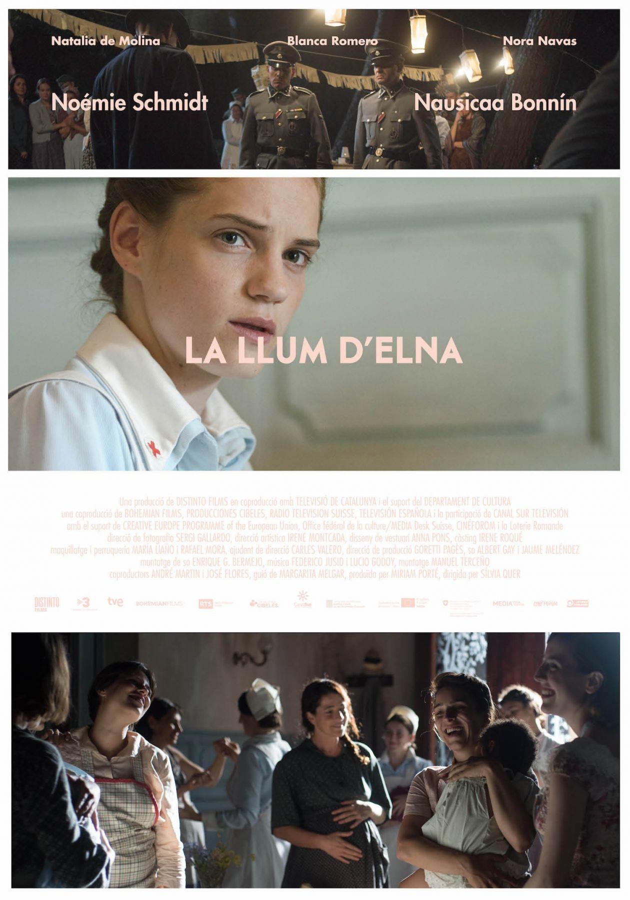 Noémie Schmidt actress actrice comédienne | La llum d'Elna / Sílvia Quer 2017 Movie Poster Affiche film