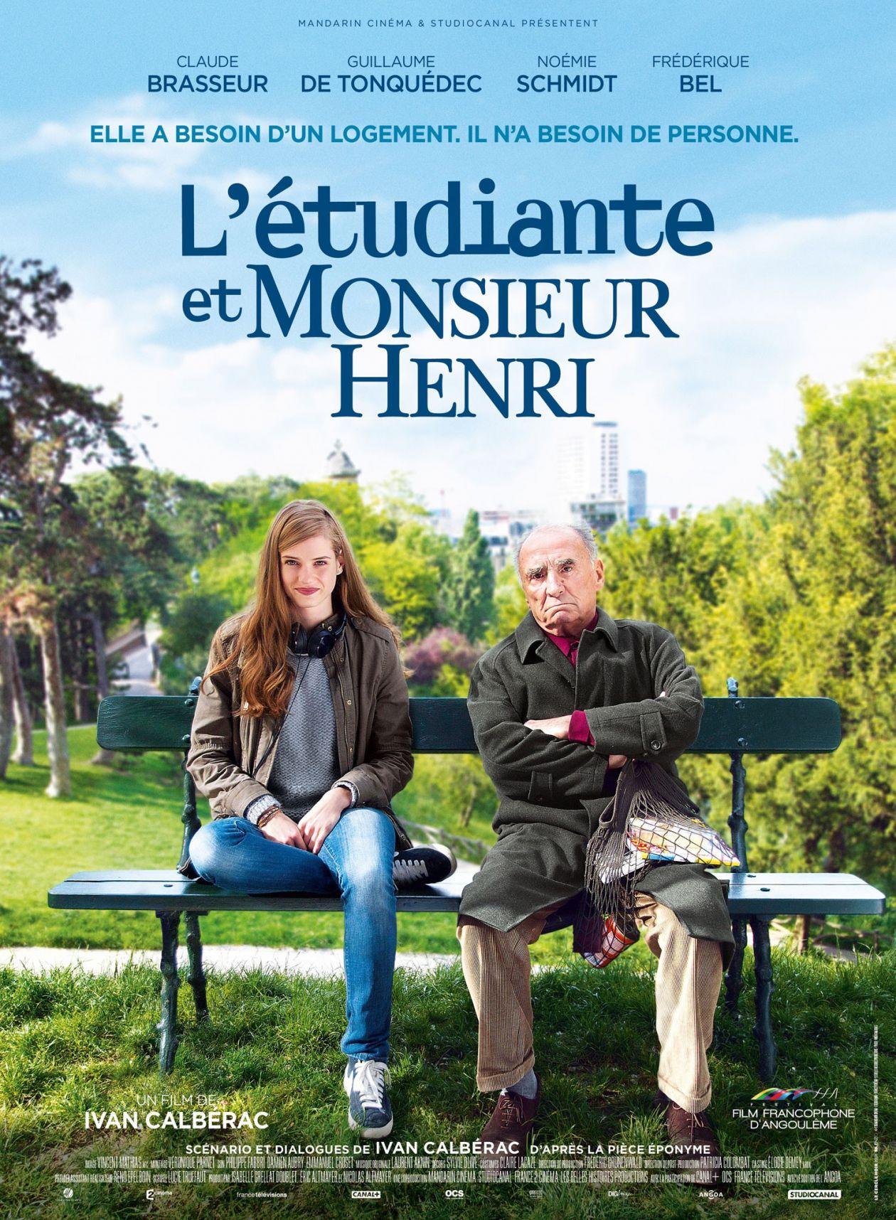 Noémie Schmidt actress actrice comédienne | L'Étudiante et Monsieur Henri / Ivan Calbérac 2015 Movie Poster Affiche film