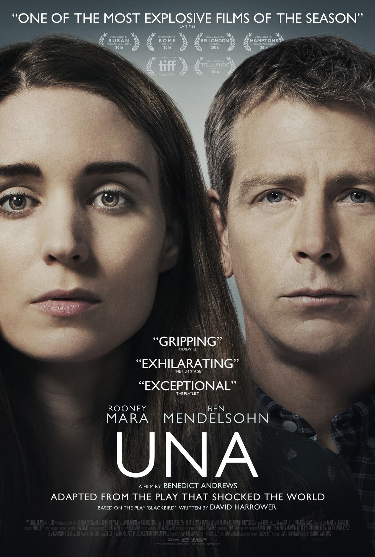 Rooney Mara actress | UNA | Benedict Andrews 2016 Movie Poster Affiche film