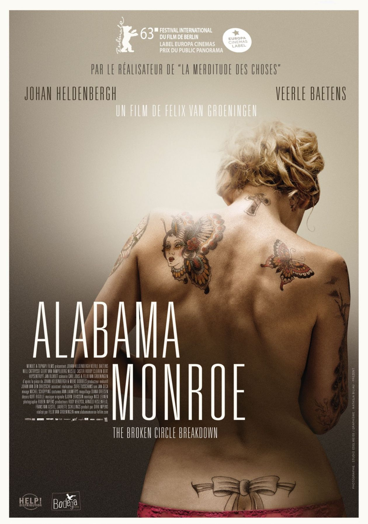 Veerle Baetens actress / Alabama Monroe / Felix Van Groeningen / movie poster / Affiche du film