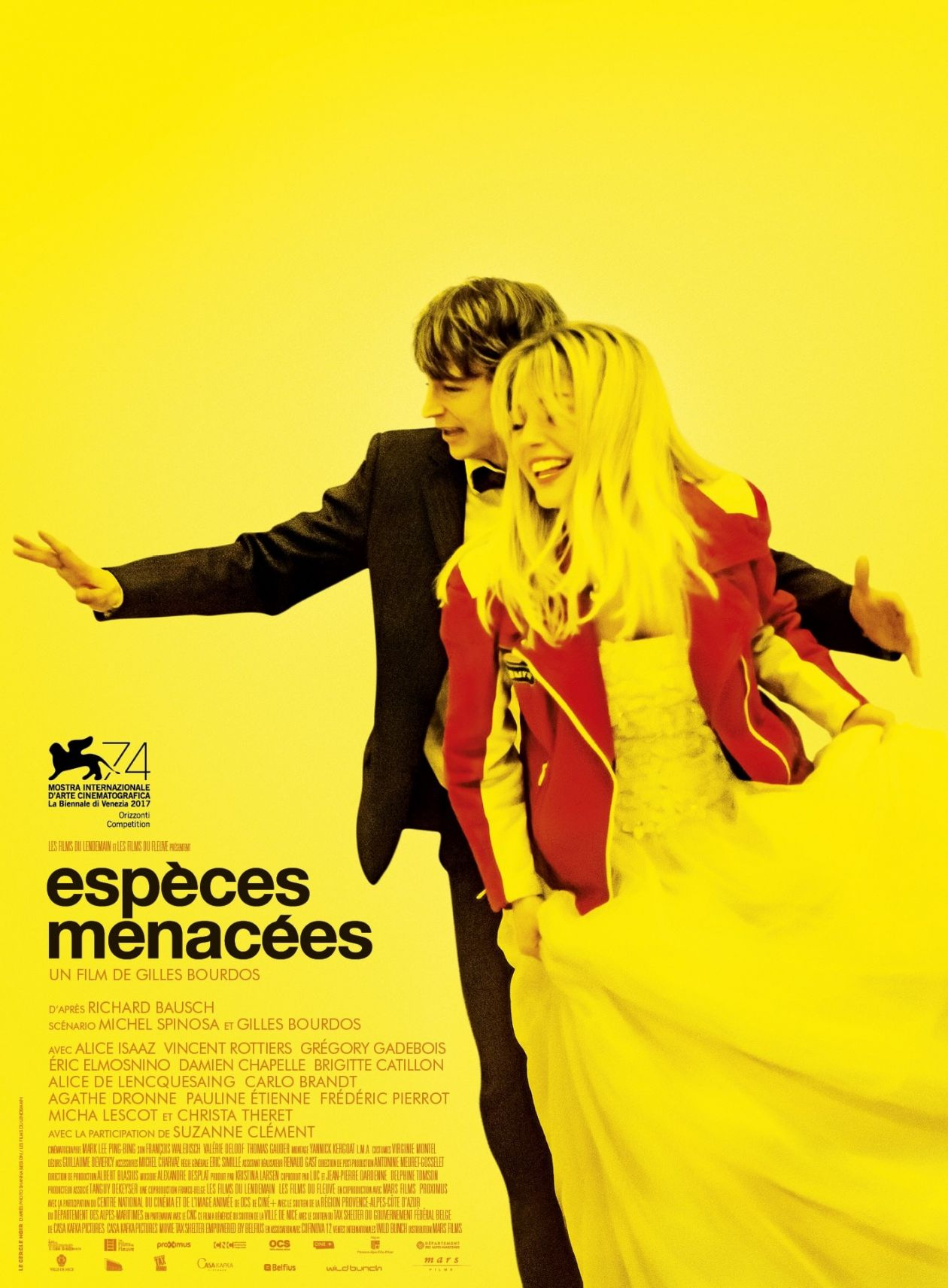 Alice Isaaz French Actress | Espèces menacées | Gilles Bourdos 2017 / Movie Poster / Affiche du film