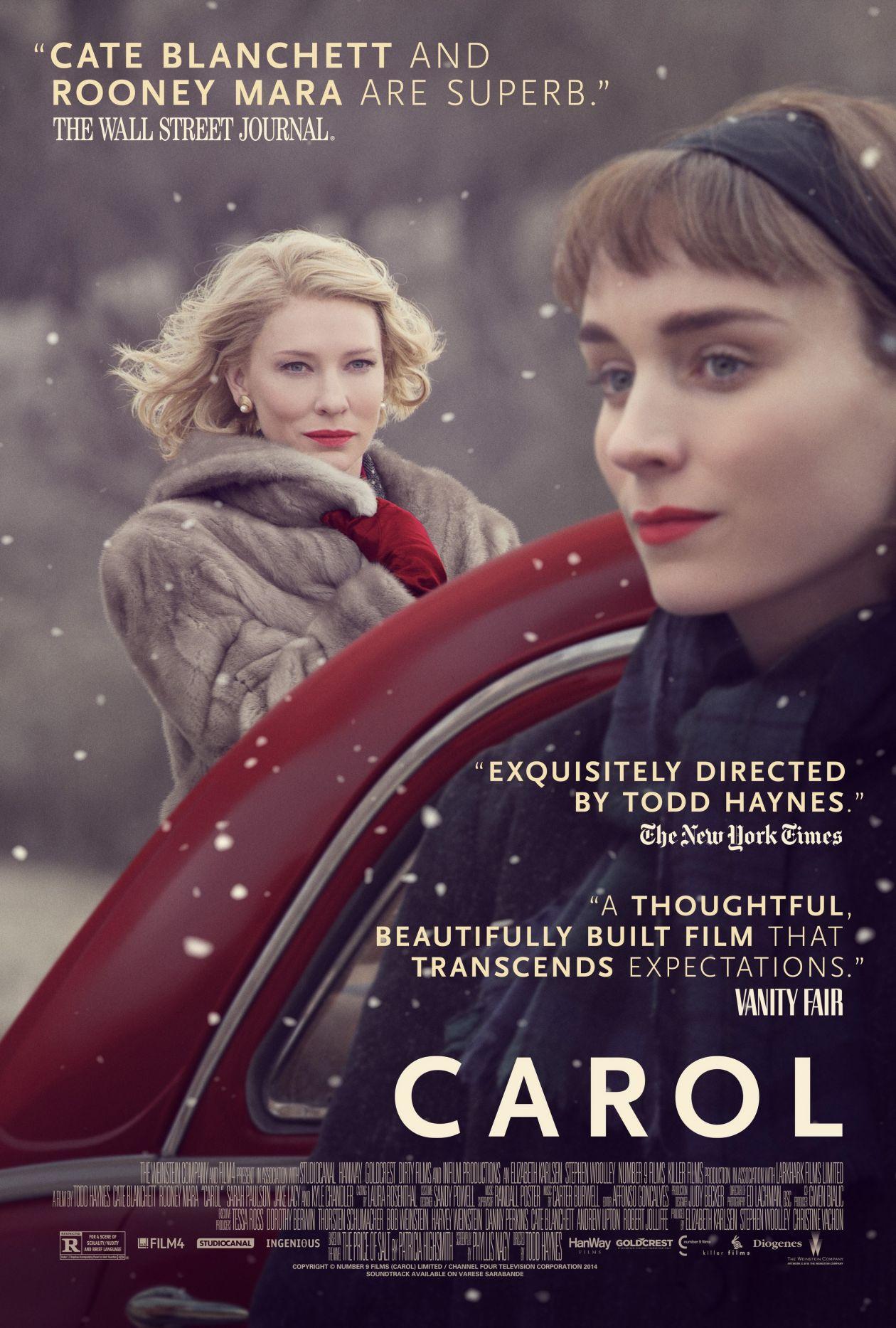 Cate Blanchett   Rooney Mara   Carol / Todd Haynes 2015 / Movie Poster