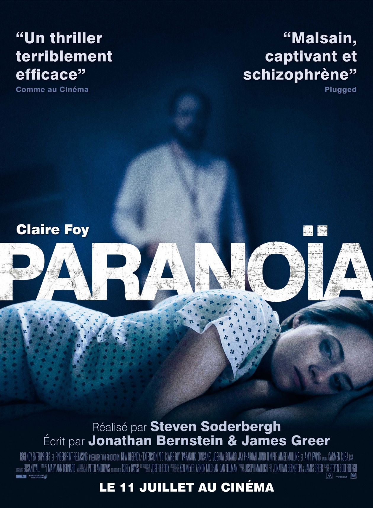 Claire Foy / Sawyer Valentini | Paranoïa / Unsane | Steven Soderbergh / AFfiche du film France / French Movie Poster