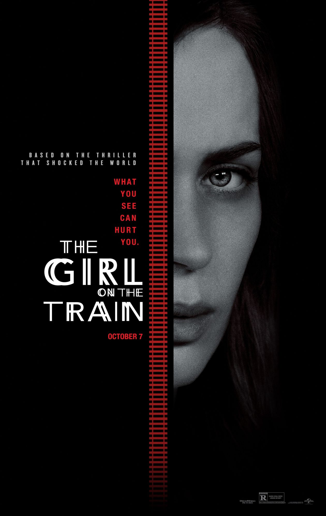 Emily Blunt actress   The Girl on the Train / Tate Taylor 2016 Movie Poster Affiche film