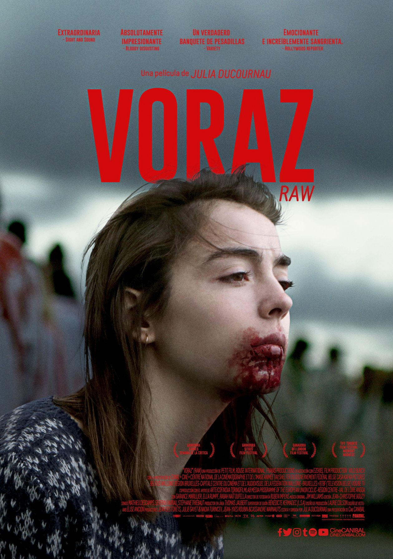 Garance Marillier French Actress actrice comédienne | Grave / Raw / Voraz / Julia Ducournau 2016 / Movie Poster / Affiche du film