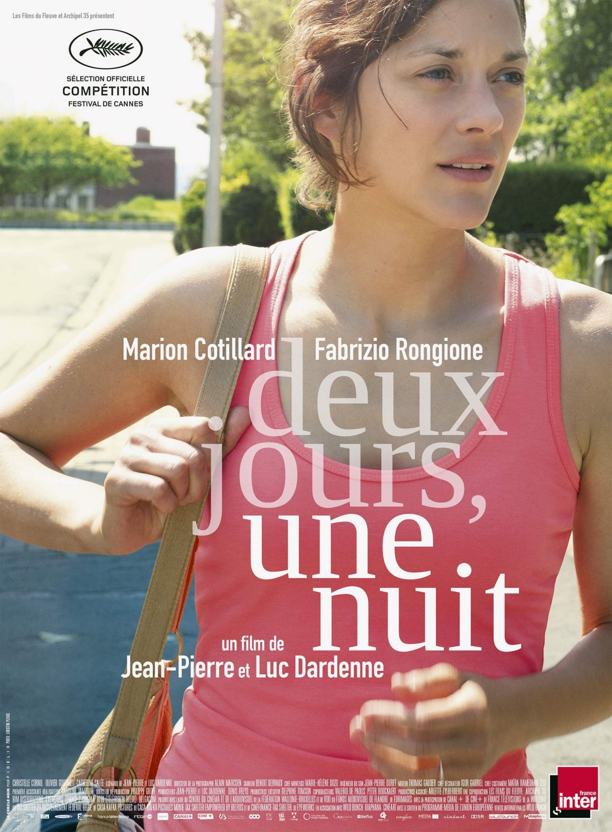 Marion Cotillard actress actrice comédienne / Deux jours, une nuit / Jean-Pierre Dardenne, Luc Dardenne 2014 Affiche film Movie Poster