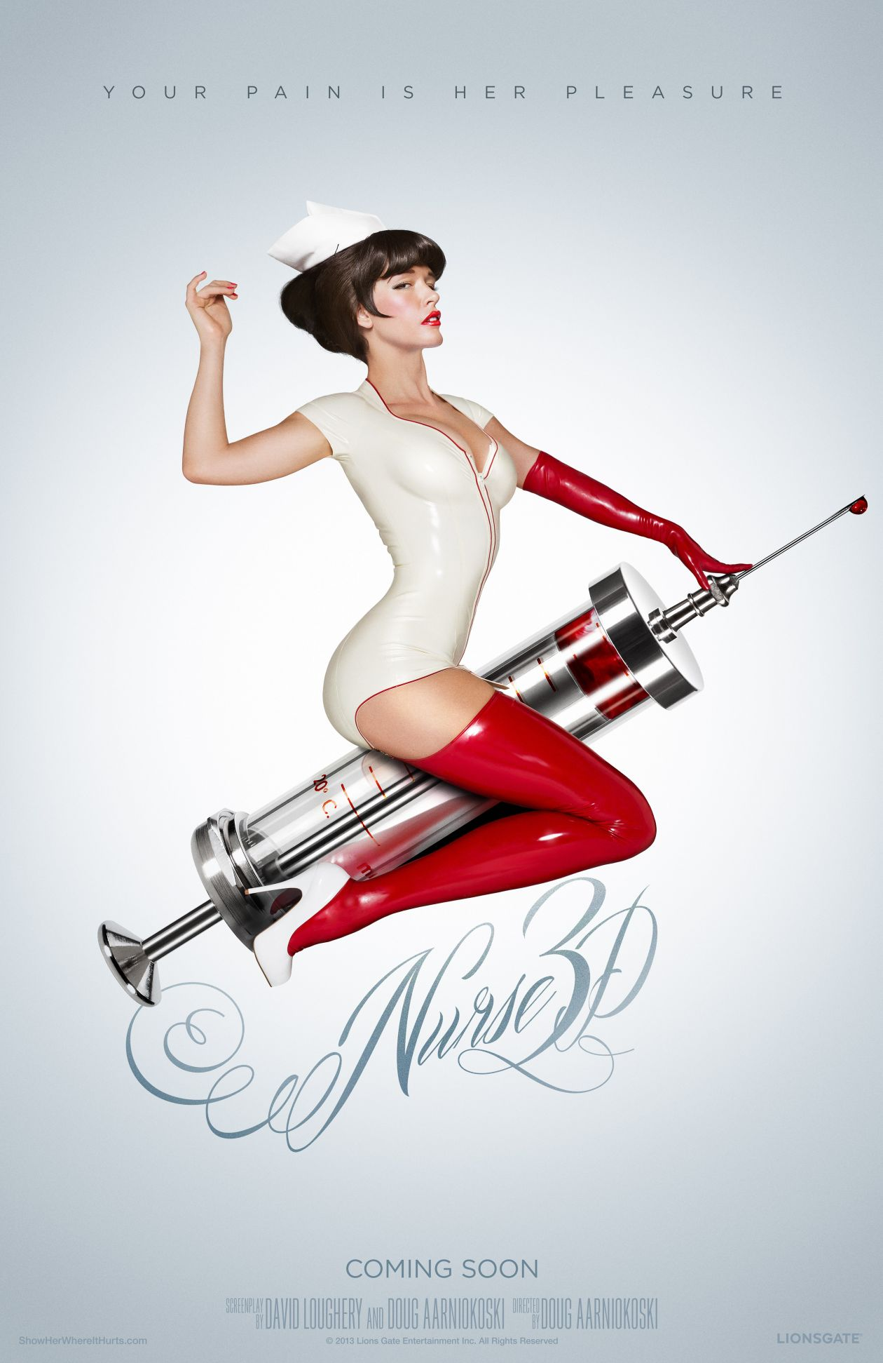 Paz de la Huerta actress | Nurse 3D / Douglas Aarniokoski 2014 / Movie Poster / Affiche film